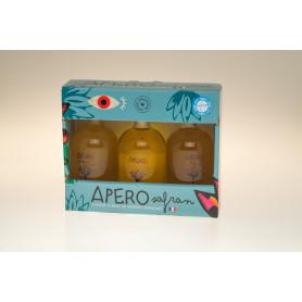 COFFRET 3 bouteilles de 10 cl APÉRO SAFRAN  13°