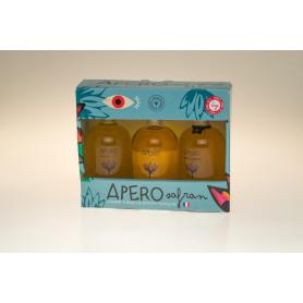 COFFRET 3 bouteilles de 10 cl APÉRO SAFRAN  33°