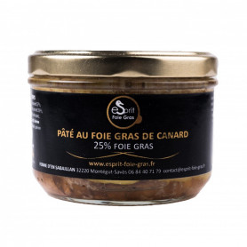 PÂTÉ AU FOIE GRAS DE CANARD (25% FOIE GRAS) 200 G