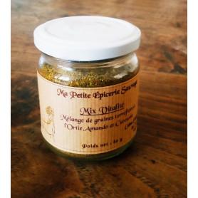 Mix Vitalité à saupoudrer - Mélange de graines torréfiées Ortie, Amande & Curcuma - 80 g