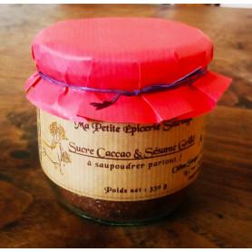 Sucre au Cacao & au Sésame grillé, à saupoudrer partout ! - 330 g