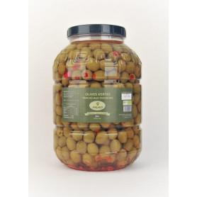 Olives vertes farcies aux poivrons bio 3kg