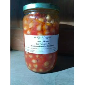 Pois chiches tomates et oignons doux des Cévennes - petit bocal - 400 g