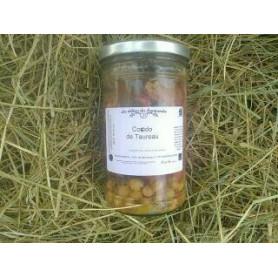Tajine de Taureau BIO, abricot, pois chiches, en bocaux prêt à déguster pour 2 personnes - 650 g