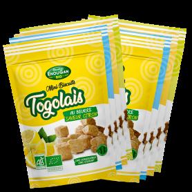 Lot de 8 Mini Biscuits Togolais 4 saveurs