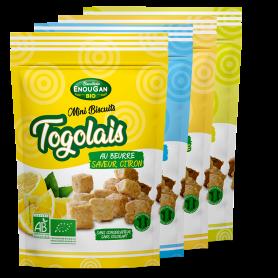 Lot de 4 Mini Biscuits Togolais 4 saveurs