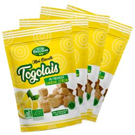 Lot de 4 Mini Biscuits Togolais Saveur Citron
