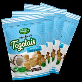 Lot de 4 Mini Biscuits Togolais Saveur Coco