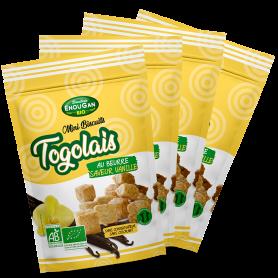 Lot de 4 Mini Biscuits Togolais Saveur Vanille