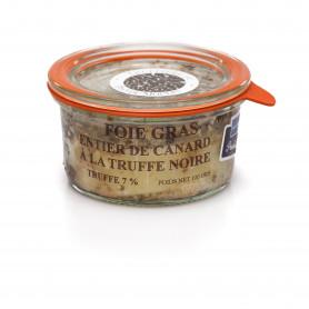 Foie gras de canard à la truffe noire 7%  100 grs