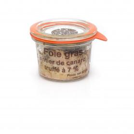 Foie gras de canard à la truffe noire 7%  50 grs